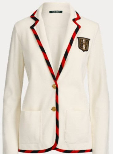 Ralph Lauren cream tipped blazer