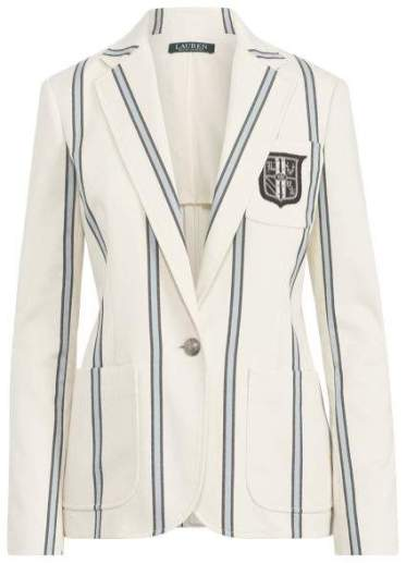 Ralph Lauren striped crest blazer