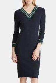 black dress polo