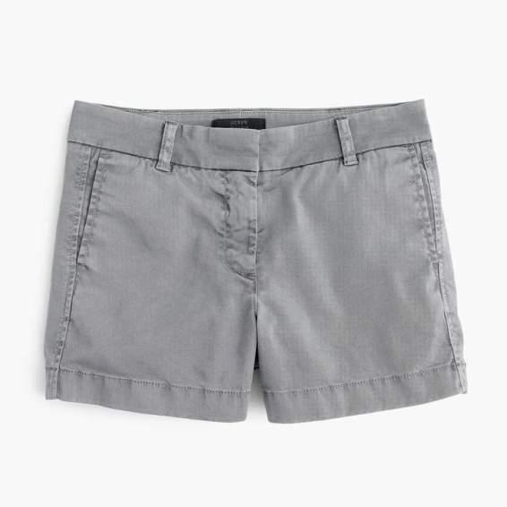 j.crew four inch chino shorts