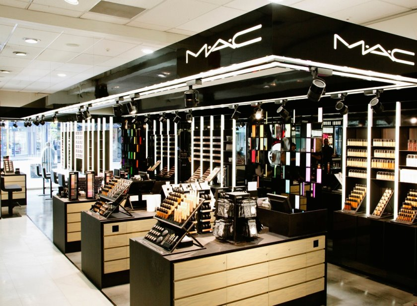 Image result for mac cosmetics counter