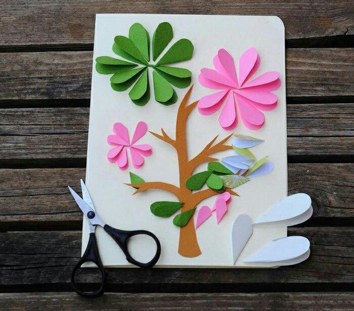 Как украсить обложку открытки из картона к восьмому марта