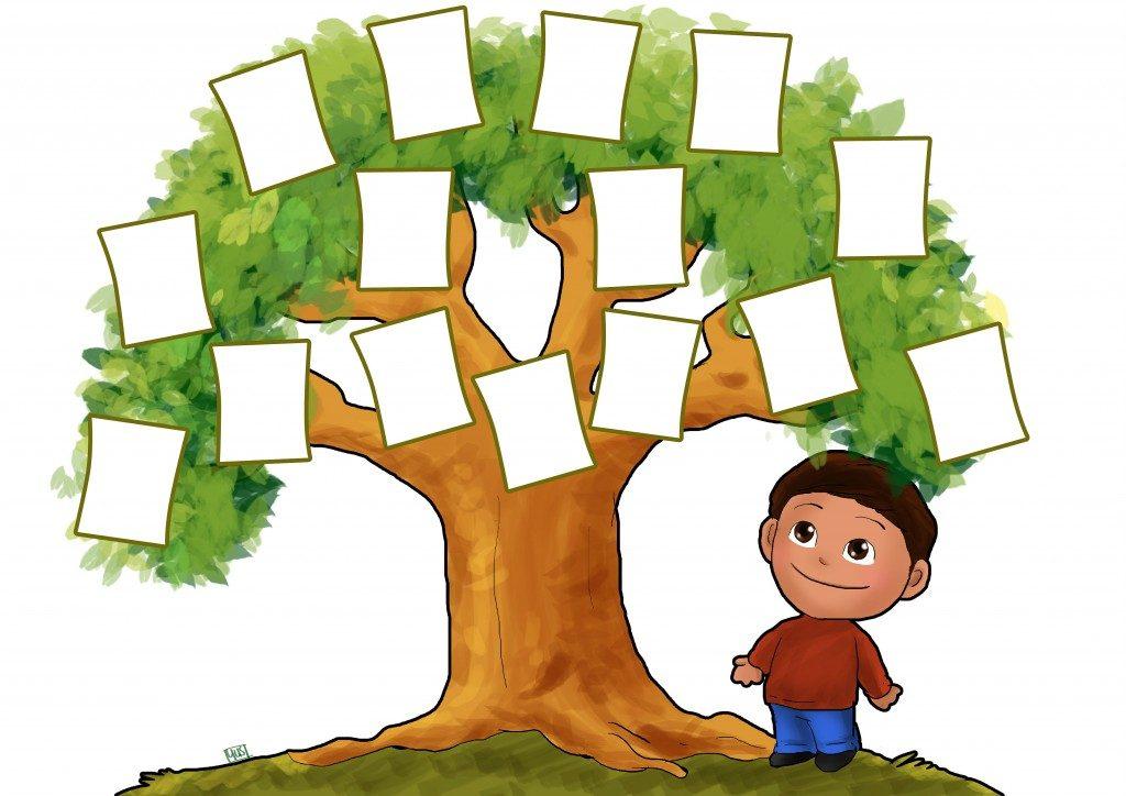 фотографе рисунки генеалогического дерева амому
