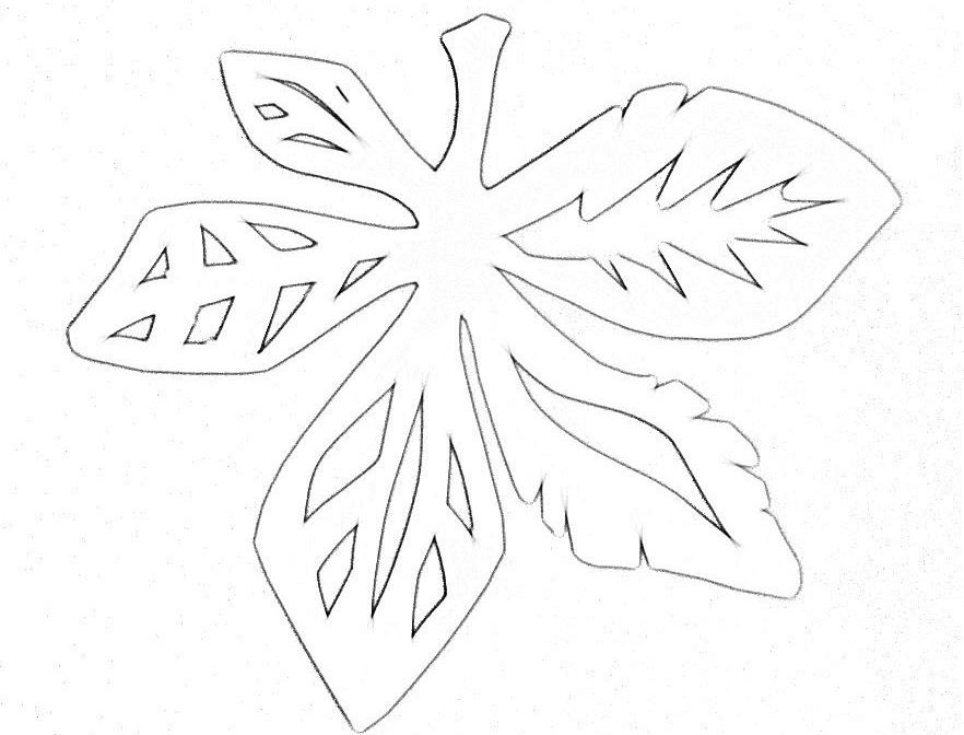 листья осени картинки трафареты на окна