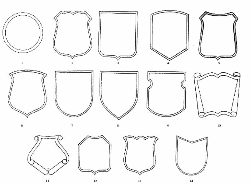 формы гербовых щитов картинки результат