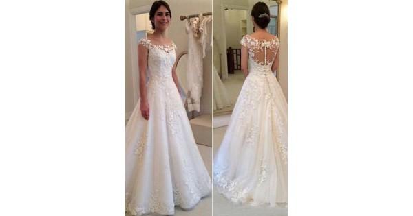 A-Line Lace Wedding Dresses Bridal Gowns 3030270