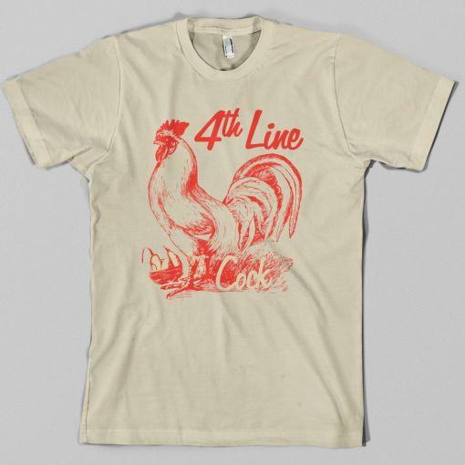 Forth Line Cock Hockey T-Shirt