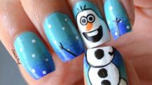 frozen_christmas_nail_art_design