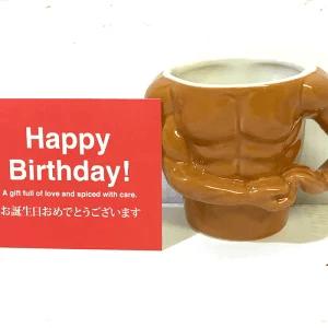 おもしろ食器 マグカップ ムキムキ!! ワイルド