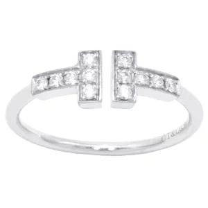 ティファニー Tiffany&co Tワイヤーリング 指輪 パヴェダイヤ