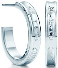 Tiffany&Co. ティファニー ナローフープピアス スモール スターリング シルバー925