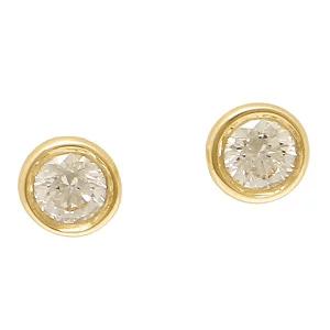 ティファニー TIFFANY&Co. ピアス アクセサリー 12818653 18K ダイヤモンド バイザヤード 0.10c18YG