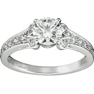 カルティエ Cartier エンゲージリング レディース 婚約指輪 バレリーナ ソリテール ダイヤモンド プラチナ Pt950 1015