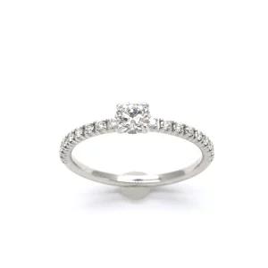 Cartier カルティエ エタンセルドゥカルティエ ハーフエタニティ ダイヤリング Pt950 婚約指輪 エンゲージリング
