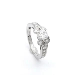 Cartier カルティエ バレリーナ ハーフエタニティ ダイヤリング Pt950 3EX 婚約指輪 エンゲージリング