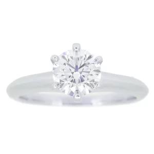 Tiffany&Co エンゲージリング ソリティアリング 1Pダイヤ プラチナ Pt950 立爪タイプ