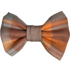 fall plaid dog bowtie