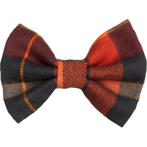 plaid thanksgiving dog bowtie