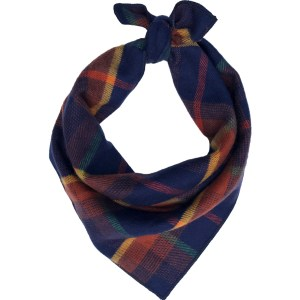 Cozy flannel plaid dog bandana