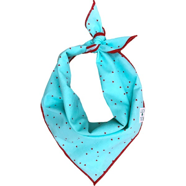 hearts dog bandana