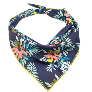 HAWAIIAN PRINT DOG BANDANA