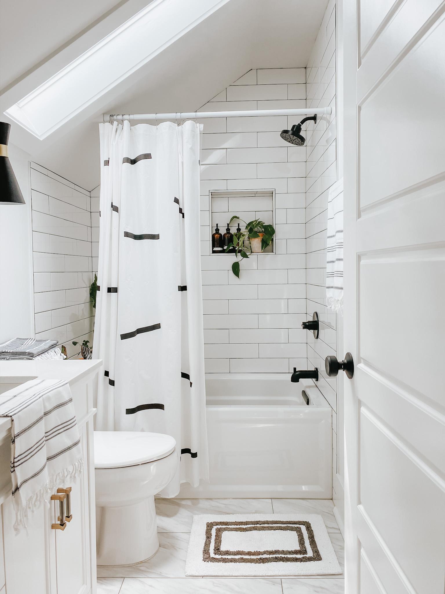 sloped wall bathroom refresh lucky andi