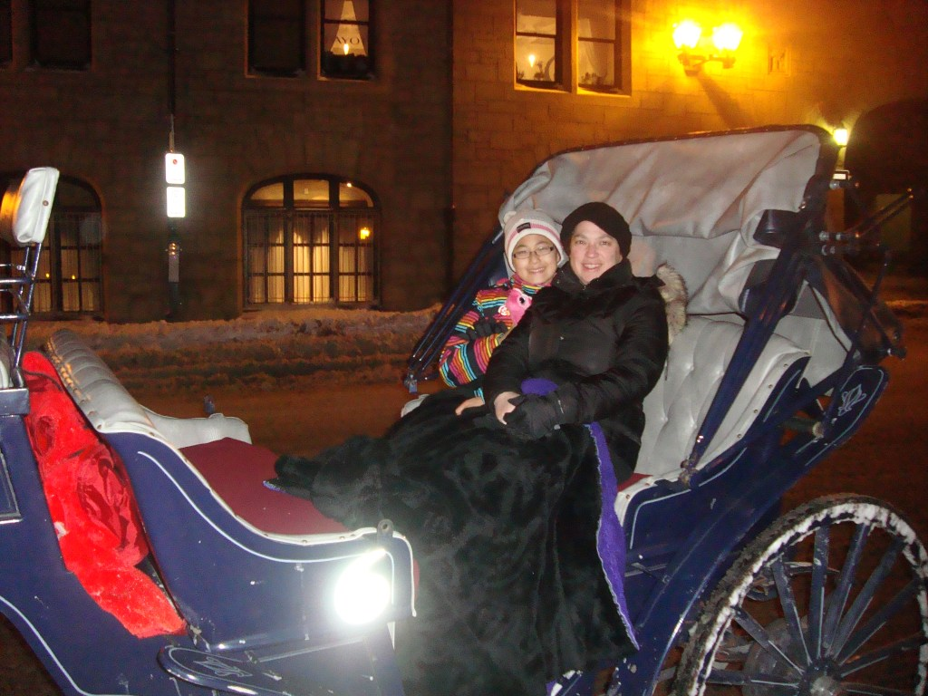 horse and carriage ride Mama Bug and Baby Bug Quebec City