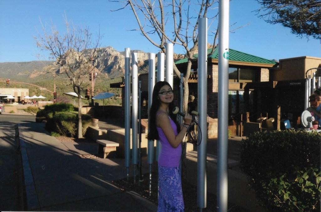 wind chimes in downtown Sedona Arizona