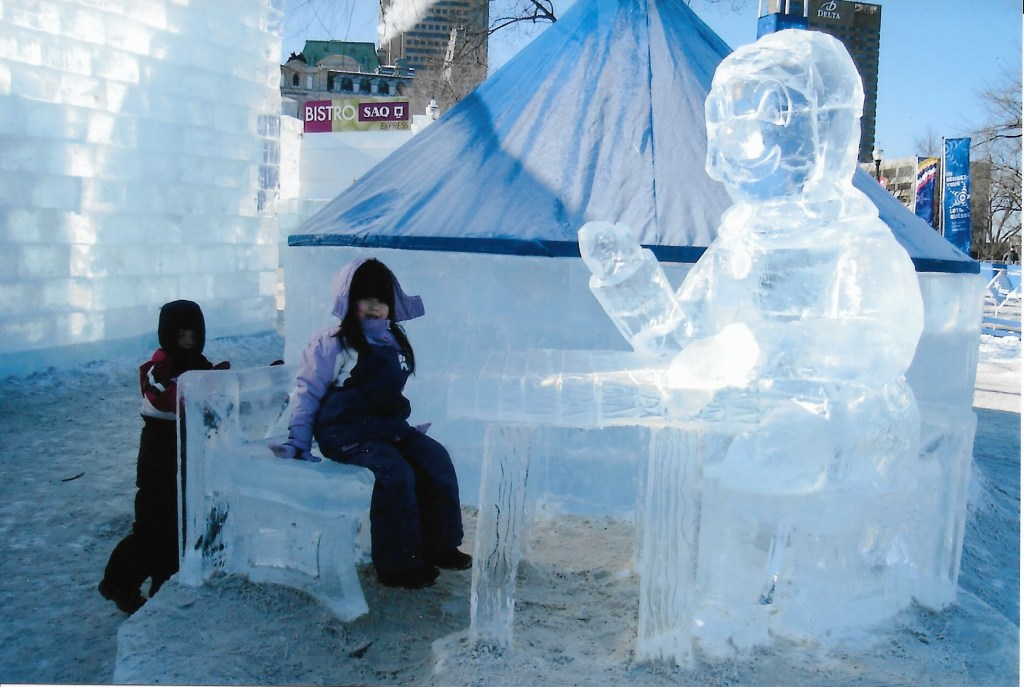 ice sculptures Quebec City Winter Carnival