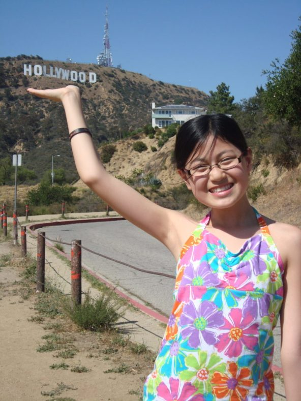 Baby Bug and Hollywood sign