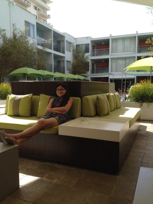 Baby Bug at the Sunset Marquis in West Hollywood