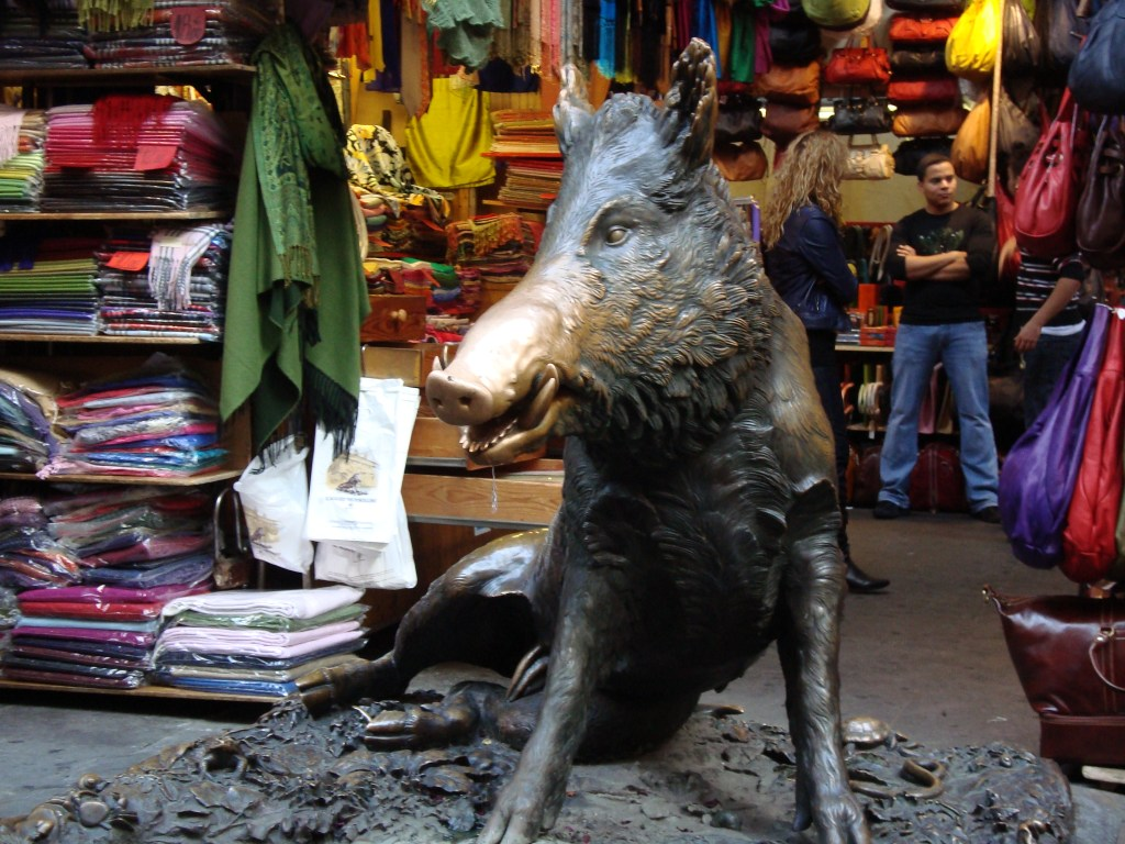 porcelain lucky bronze boar Florence Italy