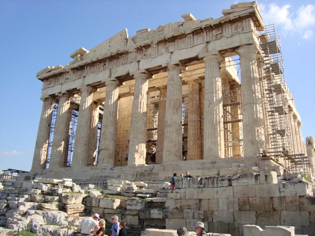 The Parthenon at the Acropolis, Athens Greece