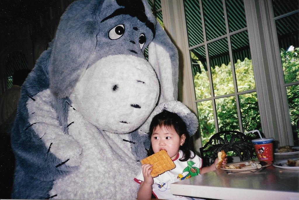 Eeyore & Baby Bug Winnie the Pooh breakfast @ Crystal Palace Walt Disney World