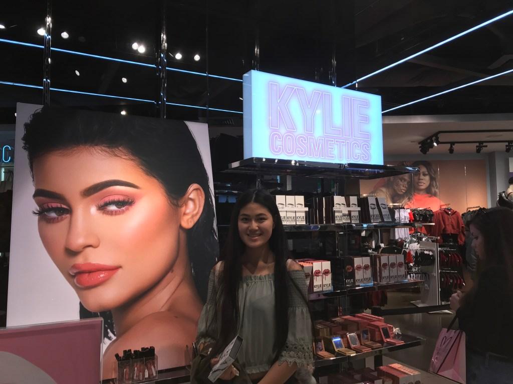 Baby Bug at the Kylie Jenner pop up shop at Lenox Mall, Atlanta