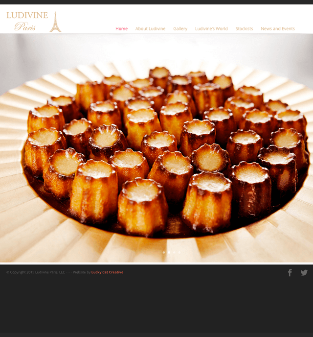 photo of exotic French pastries in a dish -- homepage of Ludivine Paris bakery
