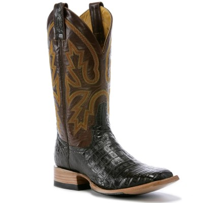 Rod Patrick Volcano Brass Cigar Caiman Square Toe Boot RPM115