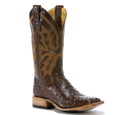 Rod Patrick Full Quill Dark Brown Cowboy Classic Square Toe Boot RPM119