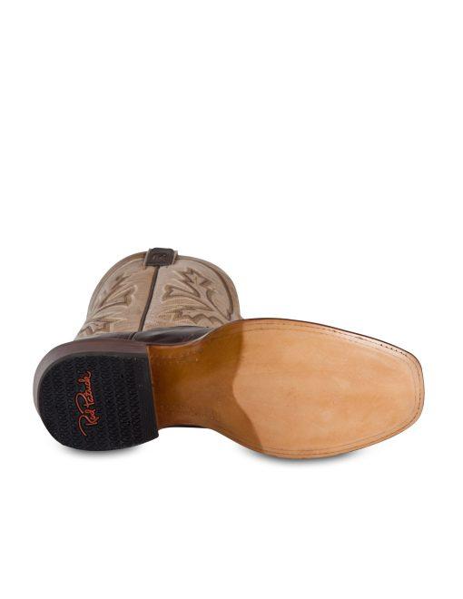 Rod Patrick Vesuvio Bone Brown Bison Blunt Toe Boot RPM122