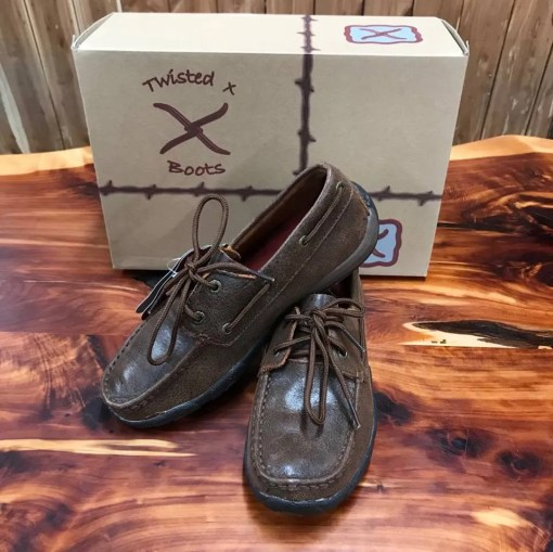 Women's Twisted X Brown Oiled Driving Moc WDM0030