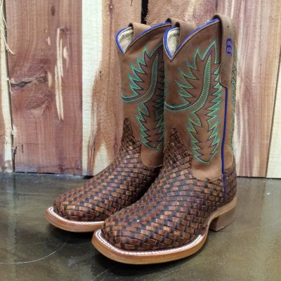 Kid's Anderson Bean Unbeweavable Honey Crazyhorse Boot K-7068