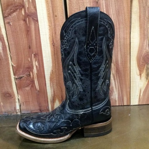 Women's Corral Vintage Black Python Inlay Boot A2402
