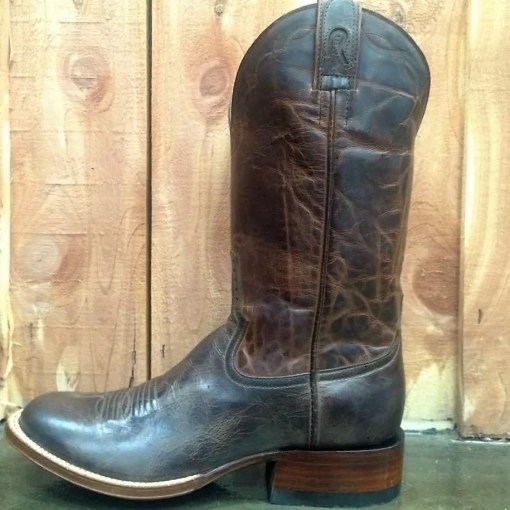Rod Patrick Mocha Bison Round Toe Boot 14625