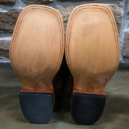 Anderson Bean Rum Brown Smooth Ostrich Black Night Boots