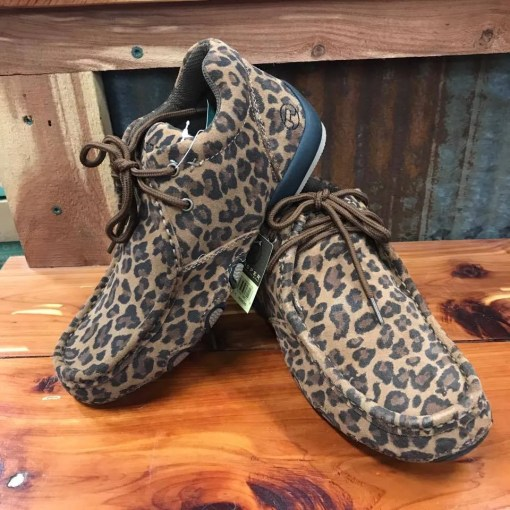 Women's Roper Chukka Leopard Suede Driving Mocs 09-021-1770-0761