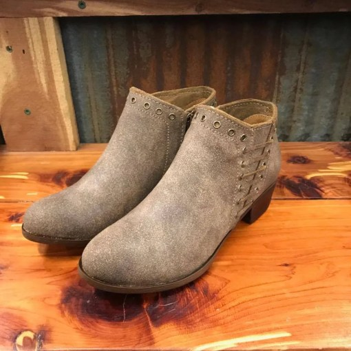 Ladies Minnetonka Brenna Bootie Vintage Brown 1533T