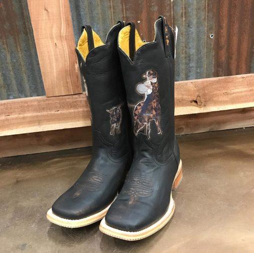 Tin Haul Men's Black Header/Heeler Square Toe Boots