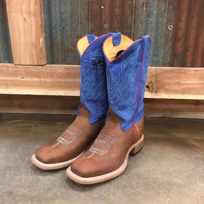 Kid's Anderson Bean Crimson Blue Zipper Boots K7076