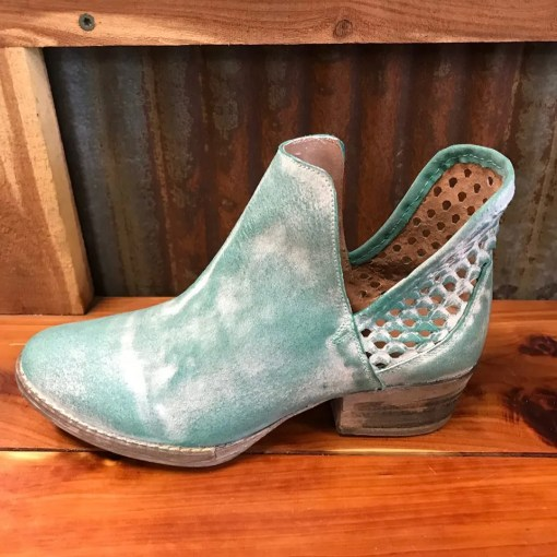 Ladies Circle G Turquoise Cut-Out Bootie Q5026