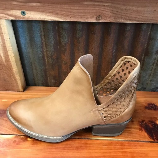 Circle G Brown Cut-Out Bootie Q5027